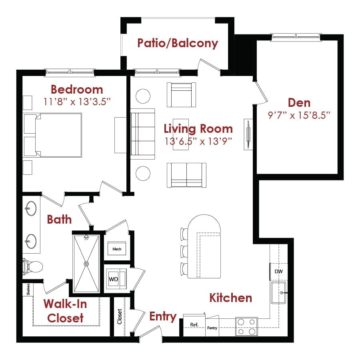 Apartment 1-016 floor plan