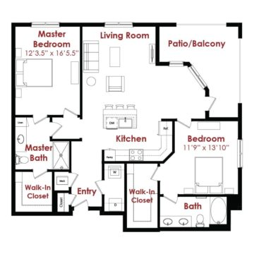 Apartment 1-241 floor plan