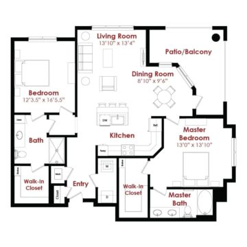 Apartment 1-230 floor plan