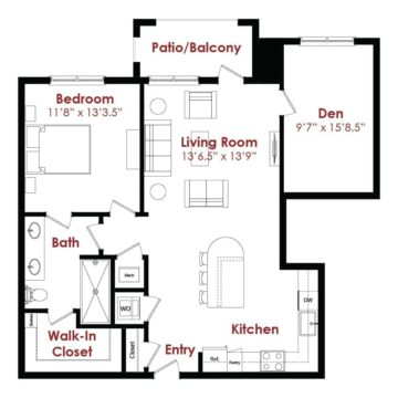 Apartment 2-224 floor plan